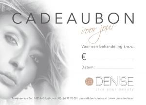 Cadeaubon - @DenisDenise | Schoonheidssalon | Uithoorn